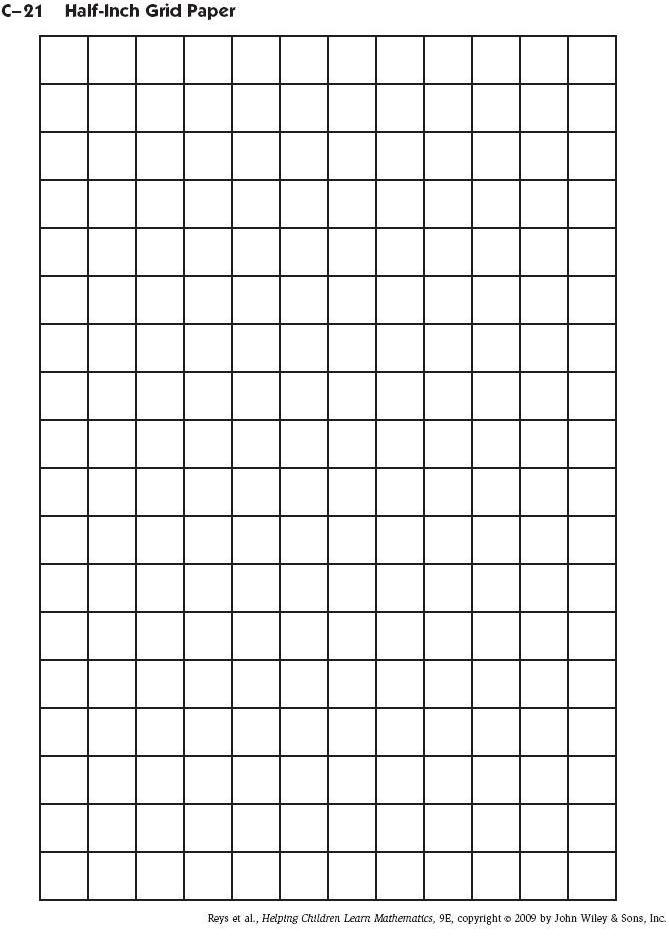 Inch Graph Paper  Free Download